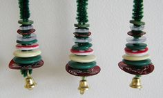 Miniature Button Tree Ornaments - GREAT fine motor craft!! - - Pinned by @PediaStaff – Please visit http://ht.ly/63sNt for all (hundreds of) our pediatric therapy pins
