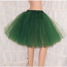 Hunter Green Romance Knee Length TuTu skirt adult All Sizes MTCoffinz ($40) ❤ liked on Polyvore featuring skirts, tutu skirts, ballerina tutu, green tutu skirt, long tutu skirt and green pleated skirt