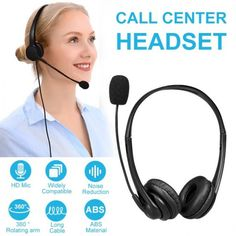 Practical Call Center Wired Headset With Microphone 20000 HZ ❤️ Pin it please on your board