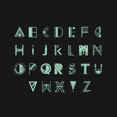 Experimental Typography by Petros Afshar, via Behance