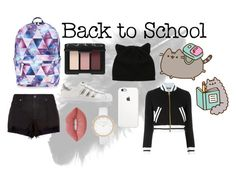 """""""Pusheen- Back to School"""" by scerr ❤ liked on Polyvore featuring Pusheen, Accessorize, NARS Cosmetics, adidas Originals, Moschino, River Island, rag & bone, Lime Crime, contestentry and PVxPusheen"""
