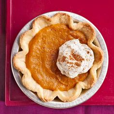 For a small scale dinner (or just because you want pumpkin pie) these Mini Pumpkin Pudding Pies are the perfect size: http://www.bhg.com/recipes/desserts/pies/pumpkin/pumpkin-pie-recipes/?socsrc=bhgpin091314minipumpkinpuddingpies&page=4