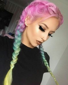 Ready to meet Tie-Dye hair? Amy The Mermaid, Mermaid Hair, Pretty Hair Color, Beautiful Hair Color, Unicorn Hair Color, Cotton Candy Hair, Hair Dye Colors, Bright Hair, Pink Hair