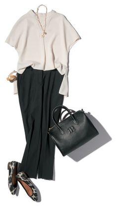 モノトーン配色 Office Fashion, Daily Fashion, Everyday Fashion, Fashion Pants, Fashion Outfits, Womens Fashion, Fashion Trends, Look Casual Otoño, Look Office