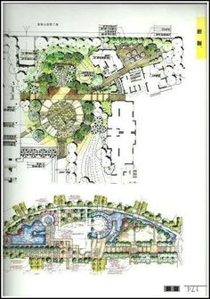 Leading 10 Garden Landscape Style Concepts To Make The Best Of Your Outdoor Location >>> Visit the image link for more details. Landscape Architecture Drawing, Landscape Sketch, Landscape Design Plans, Landscape Concept, Landscape Drawings, Urban Landscape, Urban Design Plan, Parking Design, Master Plan