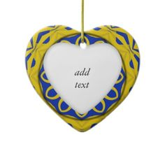SOLD! ~ Yellow & Blue Kali Ornaments by #Abstractedness shipping to Sinking Spring, PA