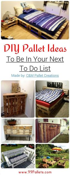 DIY Pallet Ideas To Be In Your Next To Do List | 99 Pallets