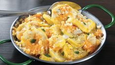 Squash and French bread come together in this slow cooked casserole - a tasty side dish.