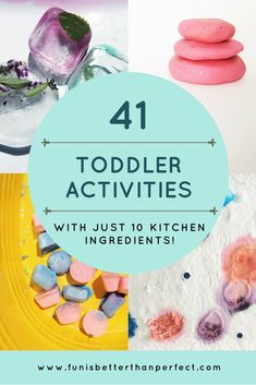 41 activities with just 10 ingredients, toddler steam, toddler science, sensory play