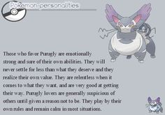 Pokemon Personalities: Purugly