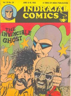 Indrajal Comics - The Invincible Ghost (Issue) Vintage Comic Books, Vintage Comics, Indrajal Comics, Times Of India, Novels, Art, Art Background, Kunst, Performing Arts