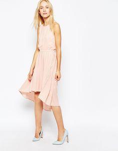 Image 1 ofPop CpH Pleated Georgette Dress