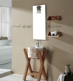 Lekker dekor til badet. Veggordet måler H: 12 cm B: 32 cm Tilgjengelig i sort Bath Caddy, Canning, Cabinet, Bathroom, Storage, Pretty, House, Inspiration, Furniture