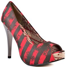 Iron Fist   Nightmare You Platform - Olive Red (a favourite gothic punk shoes repin of VIP Fashion Australia )