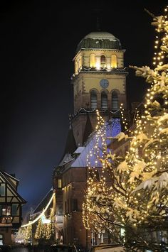 Christmas lights in Alsace, France