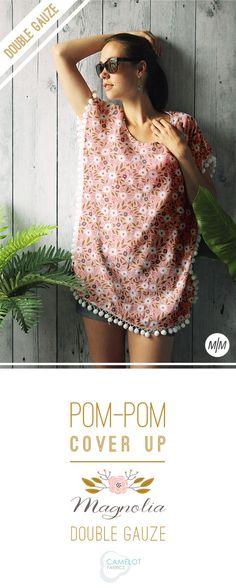 How To's Day: Pom-Pom Cover Up Tutorial | Camelot Fabrics. Freshly Made