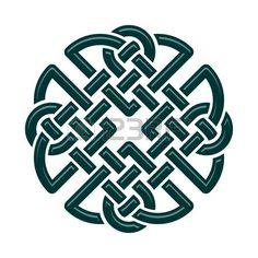 noeud marin: Celtic Dara noeud, symbole de force. isolé sur blanc