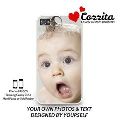 Personalised iPhone 44S55S Soft rubber / Hard plastic by Cozzita, $6.99