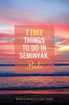 Looking for things to do in Seminyak, Bali? Click through for a guide to seven free things to in Bali's most luxurious neighbourhood, Seminyak! Discover free and fun things to do in Seminyak, Bali.