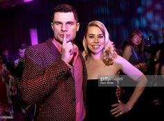 Actors Flula Borg and Birgitte Hjort Sorensen pose at the after party for the premiere of Universal Pictures' 'Pitch Perfect 2' at the Nokia Theatre L.A. Live on May 8, 2015 in Los Angeles, California.