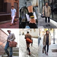 Wearing a Man Bag  ---   If you don't want to give off a feminine vibe by carrying your man bag, then do not hold the bag like a woman would.