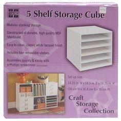 5 shelf storage cube, for scrapbook paper Scrapbook Paper Storage, Scrapbook Organization, Paper Organization, Scrapbook Paper Crafts, School Organization, Scrapbooking Ideas, Cube Shelves, Storage Shelves, Shelf