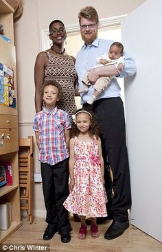 High society: Keisha and Wilco van Kleef-Bolton with Lucas, Eva and baby Jonah