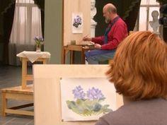 Художник показывает, как акварельные краски могут свободно перемещаться по мокрому листу, создавая неожиданные эффекты, а так же как можно контролировать этот процесс путем правильного использования красок и нужного объема воды.