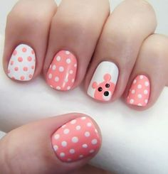 Beyond adorable!! Cutest nails I have ever seen!! ;)