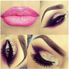 Glitter makeup!!!!