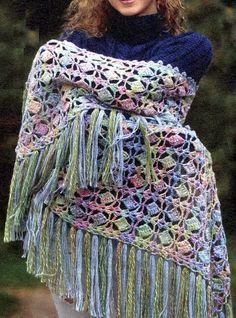 Crochet Shawl Wrap Pattern - Beautiful Stitch - Tutorial Video