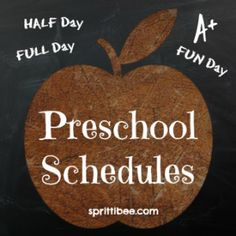My 3 different preschool schedules for this year.