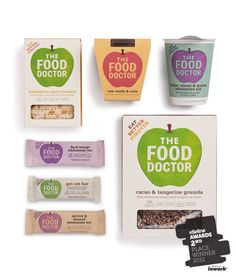 Pearlfisher has created a new brand identity - and redesigned the packaging across the entire range - for the UK's leading nutrition consultancy The Food Doctor.