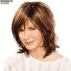 Dazzle Wig by Jaclyn Smith - Paula Young Medium Hair Styles, Short Hair Styles, Wig Styles, Shoulder Length, Hair Pieces, Bob Hairstyles, Haircuts, Short Hair Cuts, Hair Lengths