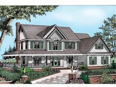 Farmhouse House Plan with 2198 Square Feet and 3 Bedrooms(s) from Dream Home Source | House Plan Code DHSW33603