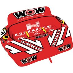 WOW 211080 The Coupe 3 Cockpit Tube, 1-3 Riders Floating Lounge, Floating In Water, Red Design, Stripes Design, Wow World, Water Tube, Le Tube, Racing Stripes, Wow Products