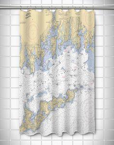 Nautical Chart Shower Curtain...