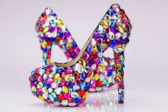 *** Lower the heel lower the price *** *** text me your size after checkout ***  style: Europe, United States, Australia surface material:  leather, high grade rhinestone inside material: leather sole material: rubber base features: soft sole, waterproof opening depth: shallow mouth (7cm,...