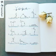 You have to check out this #yoga spread from @becks0art. Who says stick figures…
