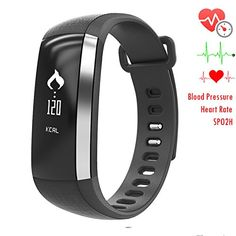 Newyes NBS02 Bluebooth Smart Watch Fitness Tracker Blood Pressure Monitor Heart Rate Monitor Sleep monitor Smart Bracelet ** You can get additional details at the image link.