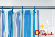 Shower Curtain Getting rid of mold on your shower curtains is easier than you think. Spray plastic shower curtain liners with a mixture of vinegar and water, and run fabric curtains through the washing machine once a month. Clean Shower Curtains, Vinyl Shower Curtains, Shower Curtain Hooks, Custom Curtains, Window Curtains, Shower Rod, Shower Doors, Shower Screens, Diy Shower