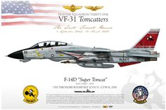 "F-14D ""Super Tomcat"" VF-31 Fighter Squadron 31 Tomcatters"