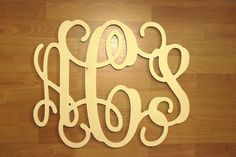 15 x 19 Monogram Wall Decor  Personalized Letters by LettersGalore, $18.00