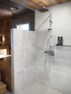 Bathroom Spa, Bathroom Toilets, Laundry In Bathroom, Grey Bathrooms, Bathroom Layout, Bathroom Cleaning, Beautiful Bathrooms, Modern Saunas, Half Wall Shower