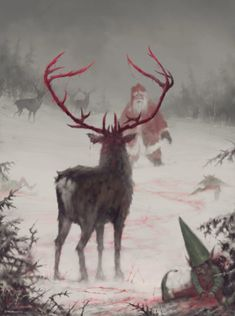 Krásné svátky a lepší příští rok! (c) Jakub Rozalski Jakub Rozalski Arte Horror, Horror Art, Dark Fantasy Art, Fantasy Creatures, Mythical Creatures, Art Sinistre, Bild Tattoos, Wow Art, Creepy Art