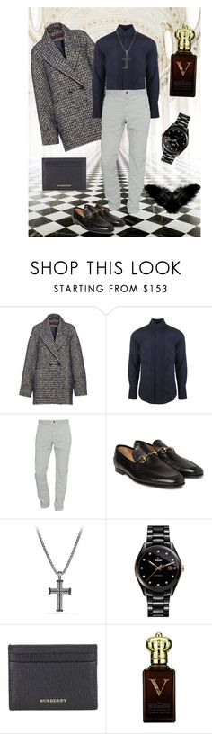 """Church Oppa's Style"" by liashevahapsari ❤ liked on Polyvore featuring Oxford, Martin Grant, Vivienne Westwood Man, Closed, Gucci, David Yurman, Rado, Burberry, Clive Christian and men's fashion"