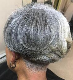 50 Gray Hair Styles Trending in 2020 Hair Adviser Nape Undercut Adviser Gray Hair Styles Trending Grey Hair Undercut, Nape Undercut, Grey Curly Hair, Short Grey Hair, Undercut Hairstyles, Short Hair Cuts For Women, Easy Hairstyles, Short Hair Styles, Short Wedge Hairstyles