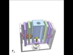Mechanical telescopic cylinder 1 - YouTube
