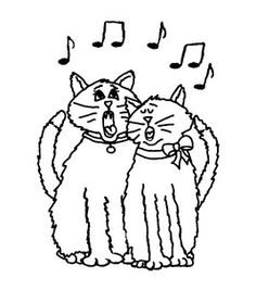 Inky Antics - Singing Cats