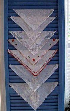 Shutter rack for linens